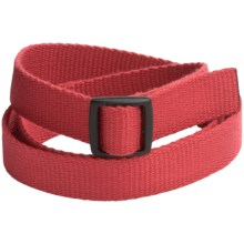 Bison Designs Slider Buckle Web Belt - 25mm (For Men and Women) in Eco Salmon - Closeouts