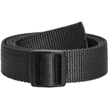 Bison Designs Slider Buckle Web Belt - 30mm (For Men and Women) in Black - Closeouts