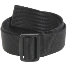 Bison Designs Slider Web Belt - 38mm (For Men and Women) in Black - Closeouts