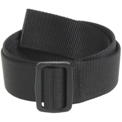 Bison Designs Slider Web Belt - 38mm (For Men and Women) in Black