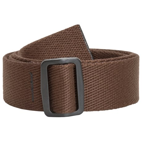 Bison Designs Slider Web Belt - 38mm (For Men and Women) in Brown