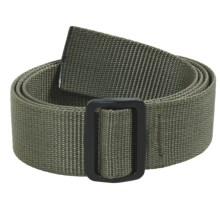 Bison Designs Slider Web Belt - 38mm (For Men and Women) in Olive - Closeouts