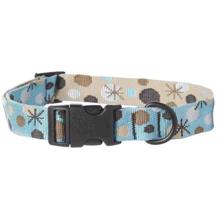 Bison Designs Snow Deco Dog Collar in Blue - Closeouts
