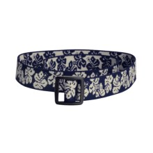 Bison Designs Stretch Web Belt  (For Kids) in Hawaiian Navy - Closeouts