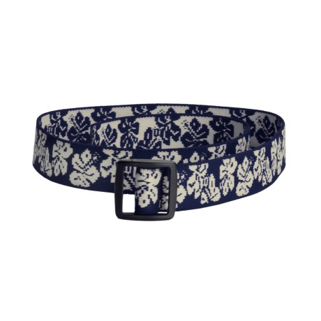 Bison Designs Stretch Web Belt  (For Kids) in Hawaiian Navy
