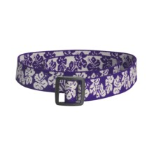 Bison Designs Stretch Web Belt (For Kids) in Hawaiian Purple - Closeouts