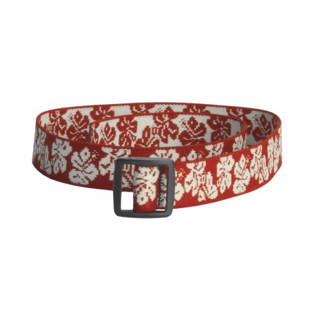 Bison Designs Stretch Web Belt  (For Kids) in Hawaiian Red