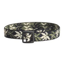 Bison Designs Stretch Web Belt (For Kids) in Maui Olive - Closeouts