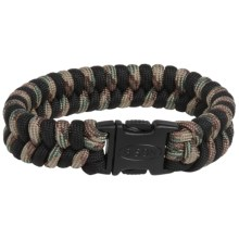 Bison Designs Two-Tone Paracord Bracelet (For Men and Women) in Multi Camo/Black - Closeouts