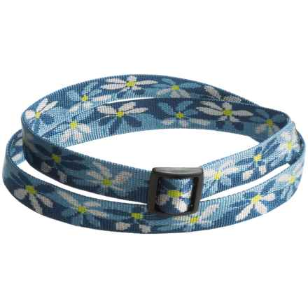 Bison Designs Water Lily Belt (For Men and Women) in Blue Multi - Closeouts