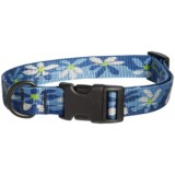 Bison Designs Water Lily Print Dog Collar
