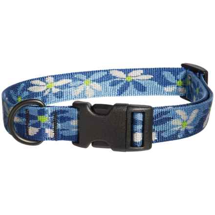 Bison Designs Water Lily Print Dog Collar in Black - Closeouts
