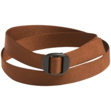 Bison Designs Web Belt (For Men and Women) in Chocolate Brown - Closeouts