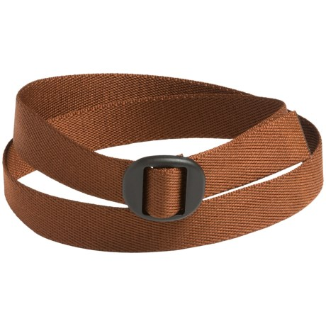 Bison Designs Web Belt (For Men and Women) in Chocolate Brown