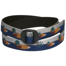 Bison Designs Web Belt (For Men and Women) in Duck Pond - Closeouts