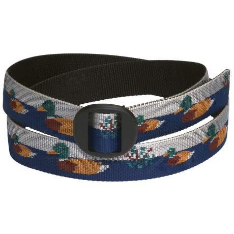 Bison Designs Web Belt (For Men and Women) in Duck Pond