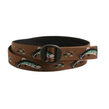 Bison Designs Web Belt (For Men and Women) in Hook And Brook Brown - Closeouts