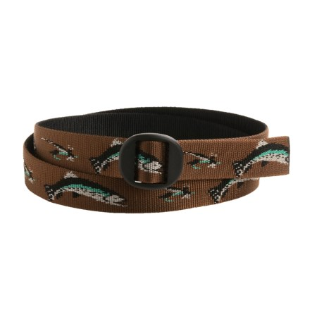 Bison Designs Web Belt (For Men and Women) in Hook And Brook Brown