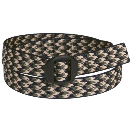 Bison Designs Web Belt (For Men and Women) in Houndstooth Green/Navy