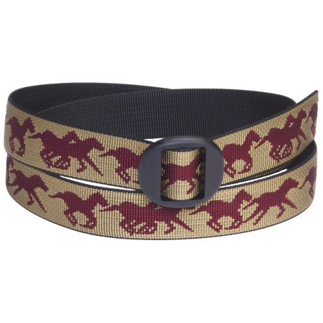 Bison Designs Web Belt (For Men and Women) in Mustang