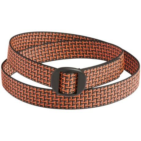 Bison Designs Web Belt (For Men and Women) in Orange Brick