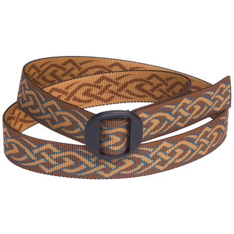 Bison Designs Web Belt (For Men and Women) in Thorn Teal