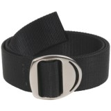 Bison Designs Web Belt - Gunmetal Crescent Buckle (For Men and Women)