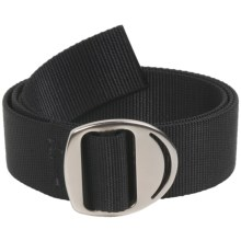 Bison Designs Web Belt - Gunmetal Crescent Buckle (For Men and Women) in Black - Closeouts