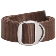 Bison Designs Web Belt - Gunmetal Crescent Buckle (For Men and Women) in Brown - Closeouts