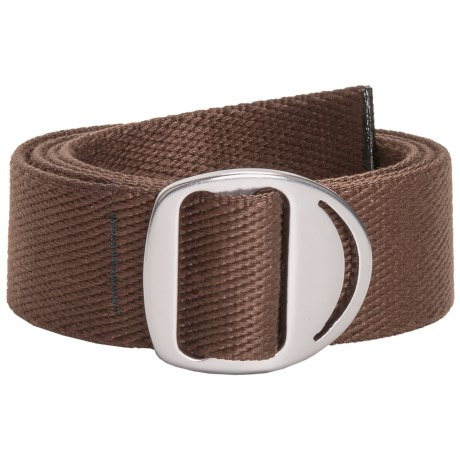 Bison Designs Web Belt - Gunmetal Crescent Buckle (For Men and Women) in Brown