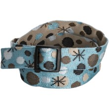 Bison Designs Web Belt - Trim-to-Fit (For Boys and Girls) in Snow Decco - Closeouts