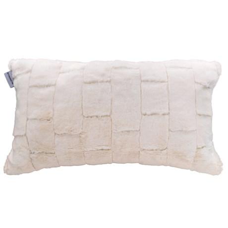 "Bittersweet Inn Brix Faux-Fur Pillow - 14x24"" in Ivory"