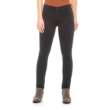 Image of Black 485 Super Skinny Jeans - Mid Rise (For Women)