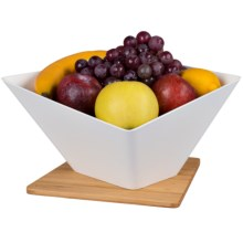 Black & Blum Forminimal Collection Draining Fruit Bowl and Mat Set - 2-Piece in White - Overstock