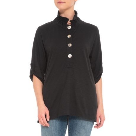 Image of Black Bellano Shirt - 3/4 Sleeve (For Women)