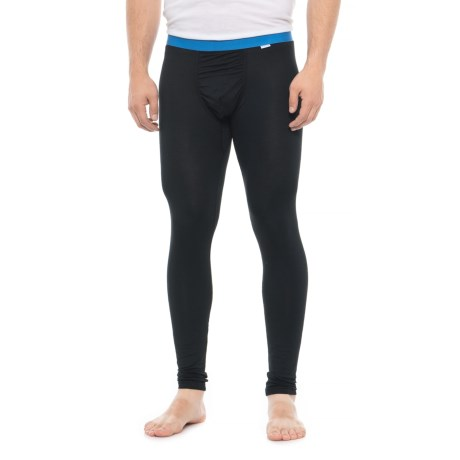 Image of Black Blue Weekday First Layer Base Layer Pants (For Men)