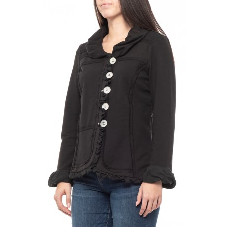 Image of Black Carmel Patchwork Jacket (For Women)