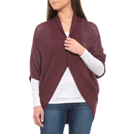 Image of Black Cherry Heather Lima Cardigan Sweater - Organic Cotton (For Women)