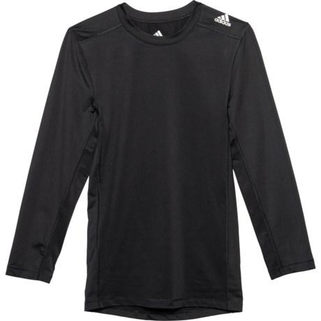 Black ClimaLite(R) Base Layer Top - Long Sleeve (For Big Boys) - BLACK (M ) thumbnail