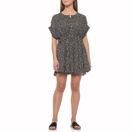 Black Combo One Fine Day Mini Dress - Short Sleeve (For Women)