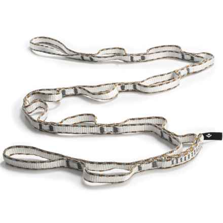 Black Diamond Equipment 12mm Dynex Daisy Chain - 115cm in White/Grey/Brown - Closeouts