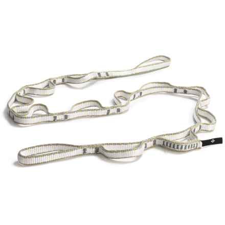 Black Diamond Equipment 12mm Dynex Daisy Chain - 115cm in White/Grey/Yellow - Closeouts