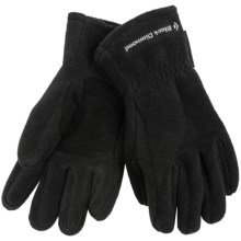 Black Diamond Equipment 300 Weight Gloves - Polartec® Classic Fleece (For Men and Women) in Black - Closeouts
