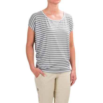 Black Diamond Equipment Arete T-Shirt - Short Sleeve (For Women) in Aluminum/Nickel Stripe - Closeouts