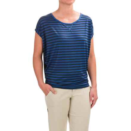 Black Diamond Equipment Arete T-Shirt - Short Sleeve (For Women) in Denim/Captain Stripe - Closeouts