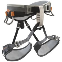 Black Diamond Equipment Aspect Climbing Harness (For Men) in Charcoal/Burnt Orange - Closeouts