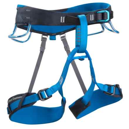 Black Diamond Equipment Aspect Climbing Harness (For Men) in Deep Blue - Closeouts