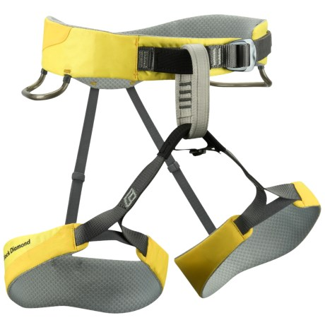 Black Diamond Equipment Aura Climbing Harness (For Women) in Lemon Yellow