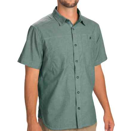Black Diamond Equipment Chambray Modernist Shirt - Short Sleeve (For Men) in Adriatic - Closeouts