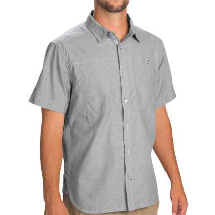 Black Diamond Equipment Chambray Modernist Shirt - Short Sleeve (For Men) in Pewter - Closeouts